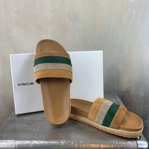VGUC Vince Alisa Striped Slide Sandal
